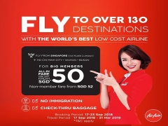 Fly to Over 130 Destinations with AirAsia from SGD50