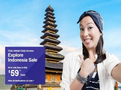 Club Jetstar Early Access to Indonesia Fare Sale from SGD53