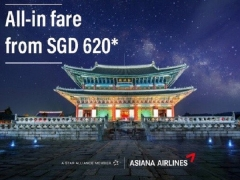 All-in Fare from SGD620 to Korea with Asiana Airlines