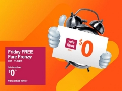 Friday FREE Fare Frenzy in Jetstar from SGD $0