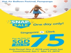 Fly to Philippines with Cebu Pacific from SGD75