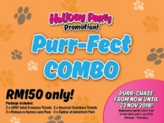 Holiday Party: Purr-fect Combo (Weekdays Only) at Sunway Lost World Water Park