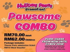 Holiday Party: Pawsome Combo (Weekends Only) at Sunway Lost World Water Park