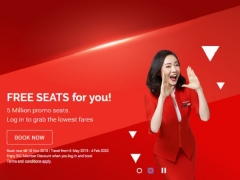 AirAsia FREE Seats for your Next Year's Getaway