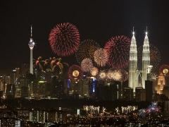 New Year's Eve Fireworks at Mandarin Oriental Kuala Lumpur