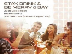 Stay, Drink and Be Merry at Bay Hotel Singapore from SGD150