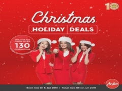 Holiday Deals in AirAsia with Low Fares for Sale till 06 Jan 2019