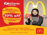 KidZania Kuala Lumpur and McDonald's New Year Special