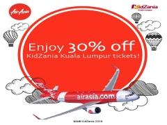 Enjoy Up to 30% Off KidZania Kuala Lumpur Ticket with AirAsia Boarding Pass Promo