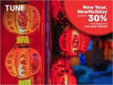 New Year, New Holiday at Tune Hotels with Up to 30% Savings