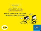 Up to 30% Off Air Fares in Scoot with Citibank