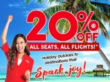 20% Off All Seats, All Flights in AirAsia