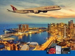 Enjoy up to 10% off Qatar Airways Airfares with UOB Card