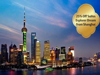 Suites at 25% Off on Explorer Dream's Cruises from Shanghai