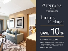 Luxury Package at Centara Grand at Central Plaza Ladprao Bangkok