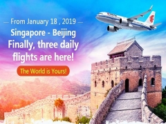 Fly to Beijing with Air China from SGD266