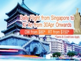 Fly to Xi'an with China Eastern Airlines from SGD80 one-way