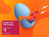 Easter FREE Fare Frenzy in Jetstar with Base Fare from SGD0
