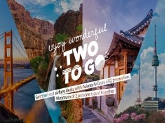 Two-to-Go Fares in Asiana Airlines to Korea and America