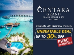 Save Up to 30% on the Ultimate Holiday at Centara Grand Island Resort & Spa