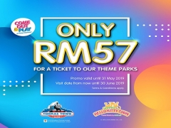 Single Park Pass Awesome Deal in Puteri Harbour