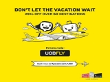 25% Off Over 60 Destinations with Scoot and UOB Card