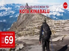 One Week Only - Book your Seat to Kota Kinabalu with AirAsia