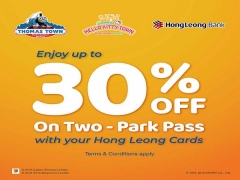 30% Off Two Park Pass in Puteri Harbour with Heong Leong Bank Card