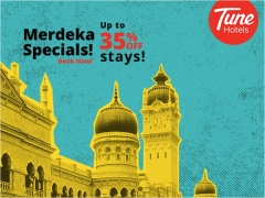 Merdeka Specials - Up to 35% Off Stay at Tune Hotels