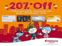 Enjoy 20% off Usual-priced Tickets in KidZania Singapore with Maybank Card