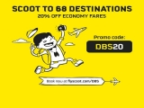 20% Off Flights to Over 68 Destinations with Scoot and DBS Card