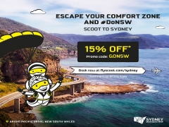 15% Off Flights to Sydney with Scoot Airlines
