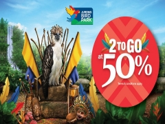 2-to-Go at 50% Off for Singaporeans and Local Residents to Jurong Bird Park