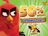 5th Anniversary Special - 50% Off Tickets to Angry Birds Activity Park Johor