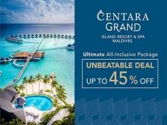 Unbeatable Deal with Up to 45% Savings at Centara Grand Island Resort & Spa Maldives