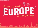 20% Off Europe Flights with AirAsia