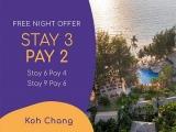 Stay 3 Nights Pay for 2 at Centara Koh Chang Tropicana Resort