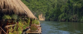 5D River Kwai Jungle Rafts Floating House Experience