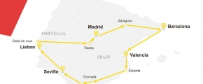 7 Days Yellow Sapphire Route - Spain & Portugal (EU7YEL-ST)