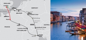 SEVEN COUNTRIES, VENICE & PARIS 2019 - 10 days LONDON to PARIS