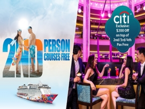 Genting Dream: Winter Sailing 2nd Pax Free + Citibank Card Member Enjoy $200 Off Per Cabin