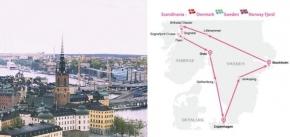7 Day Pink Sapphire Route - Scandinavian - Denmark - Sweden - Norway Fjord