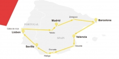 7 Days Yellow Sapphire Route - Spain & Portugal