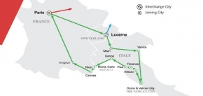 7 Days Green Sapphire Route - Western II Europe