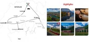 SCENIC SWITZERLAND BY TRAIN 2020 - 9 days ZURICH to ZURICH