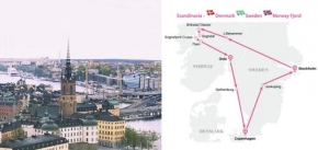 7 Day Pink Sapphire Route - Scandinavian - Denmark - Sweden - Norway Fjord
