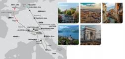 EUROPE'S HIGHLIGHTS 2020 - 14 days AMSTERDAM to PARIS