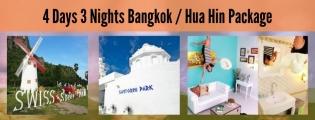 4 Days 3 Nights Bangkok / Hua Hin Package 4HH (6 to go)
